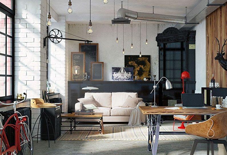 Conception d'appartement de style loft (100+ photos)