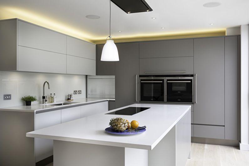 Conception de cuisine dans le style du minimalisme: 60 photos d'intérieurs