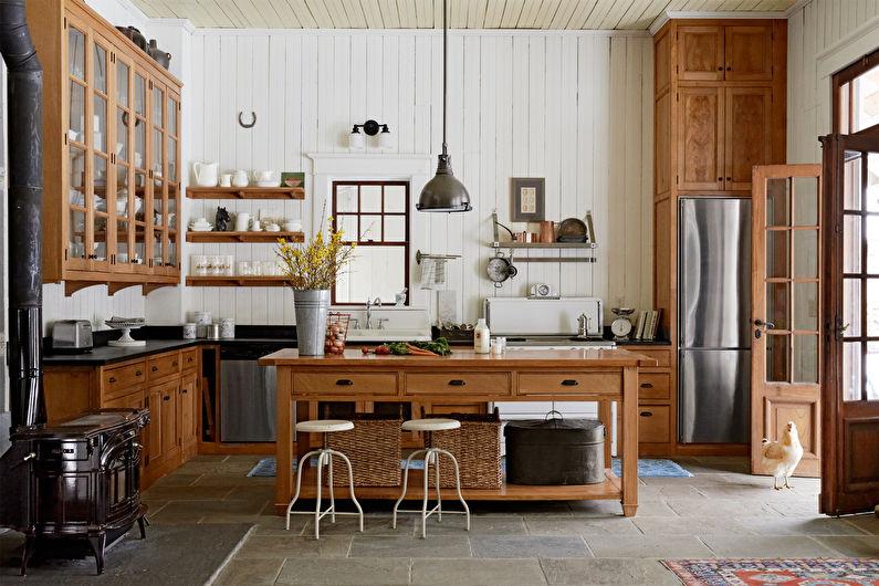 Conception de cuisine de style campagnard (+55 photos)