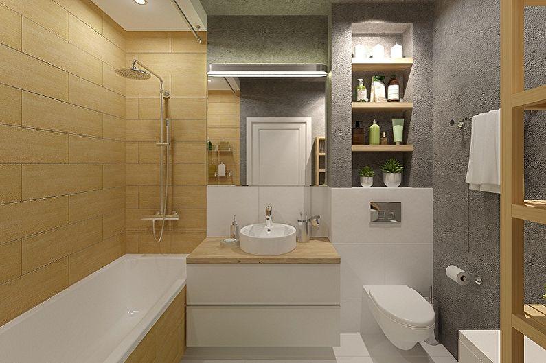 Conception de salle de bain 6 m²  (85 images)