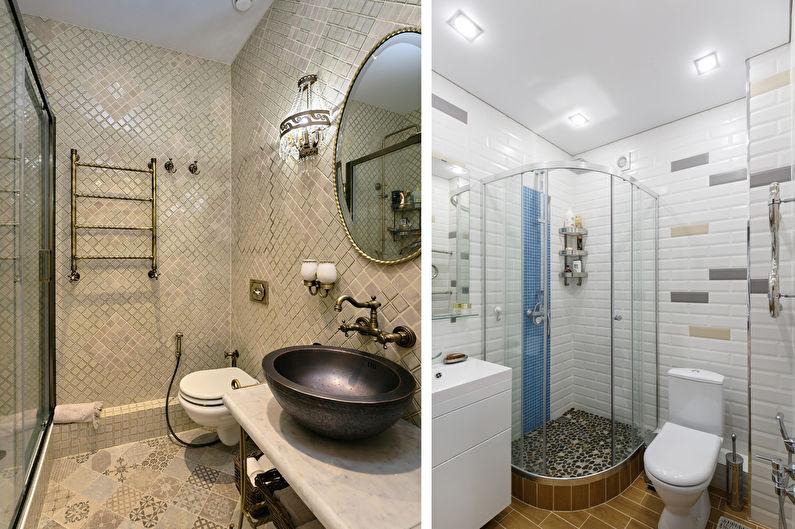 Conception de salle de bain étroite (75 photos)