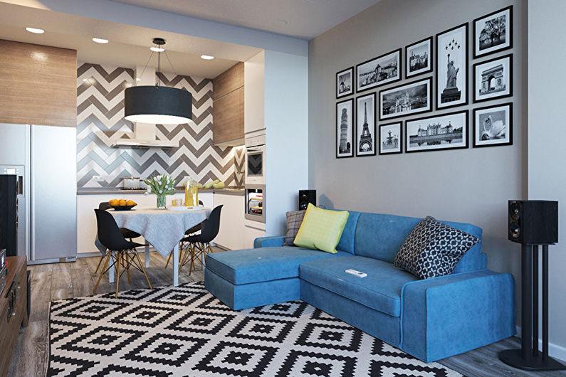 Conception d'un appartement d'une pièce de 40 m².