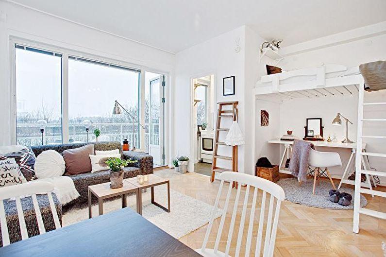 Conception d'un petit appartement (90 photos)