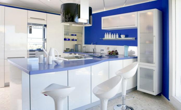 combinaison de murs avec un ensemble de cuisine