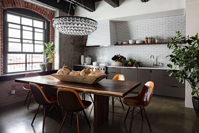 Cuisine de style loft - spectaculaire et élégante