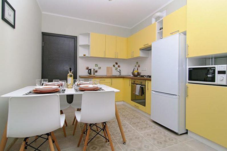 Cuisine jaune : 85 photos et idées