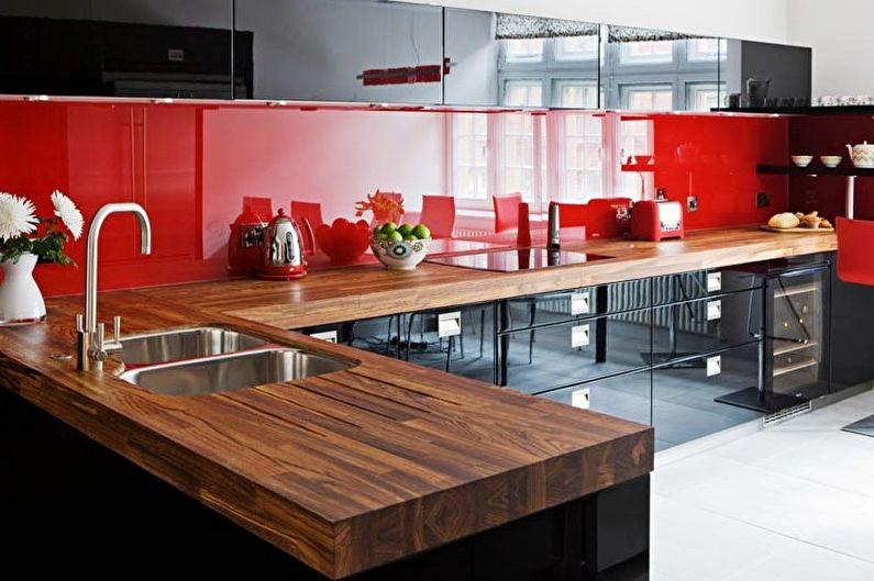 Cuisine rouge et noire : idées de design (70 photos)