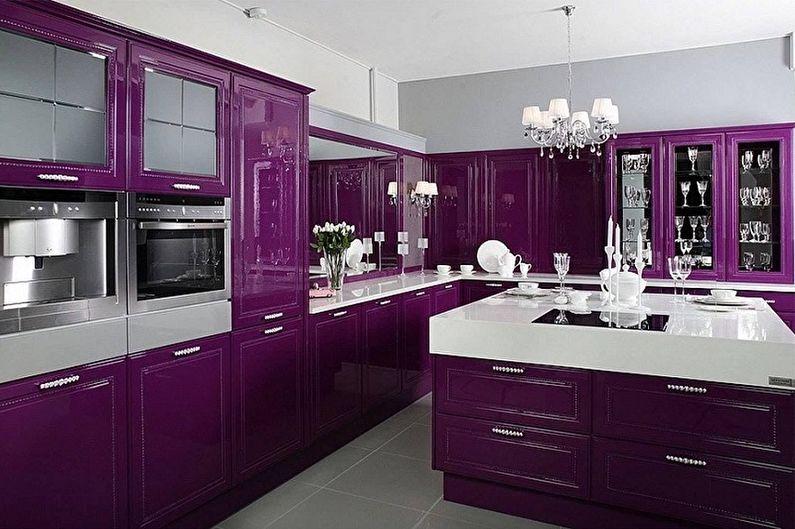Cuisine violette : idées de design (80 photos)