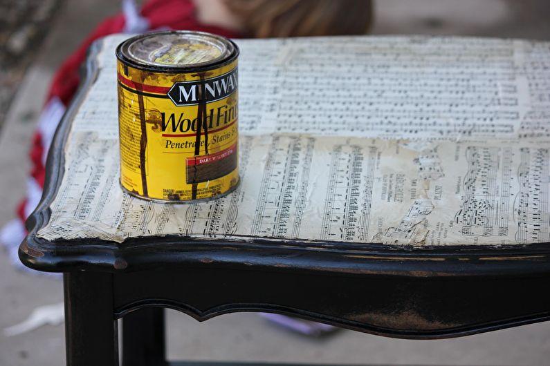 DIY déco de table ancienne