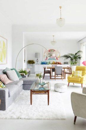 Design d'intérieur de salon de style scandinave