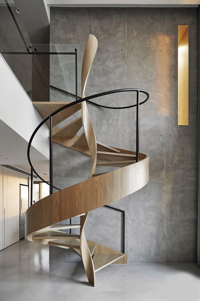 L'escalier doit s'intégrer harmonieusement et naturellement dans le concept stylistique global de la pièce