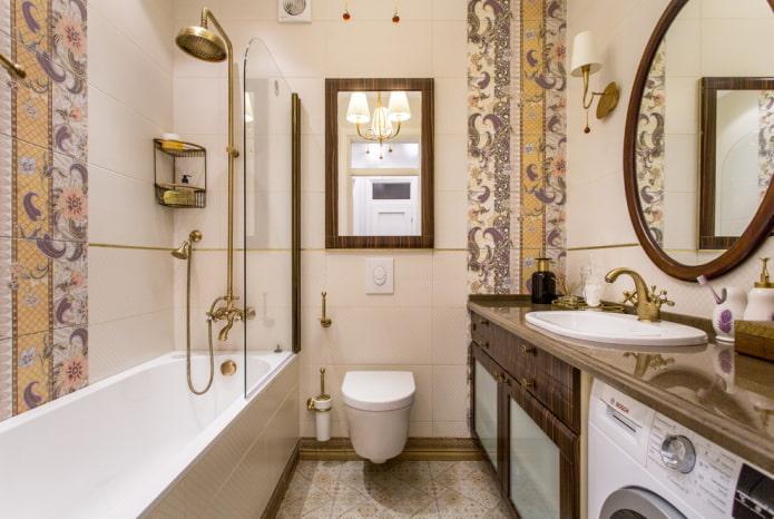 aménagement intérieur d'une salle de bain combinée