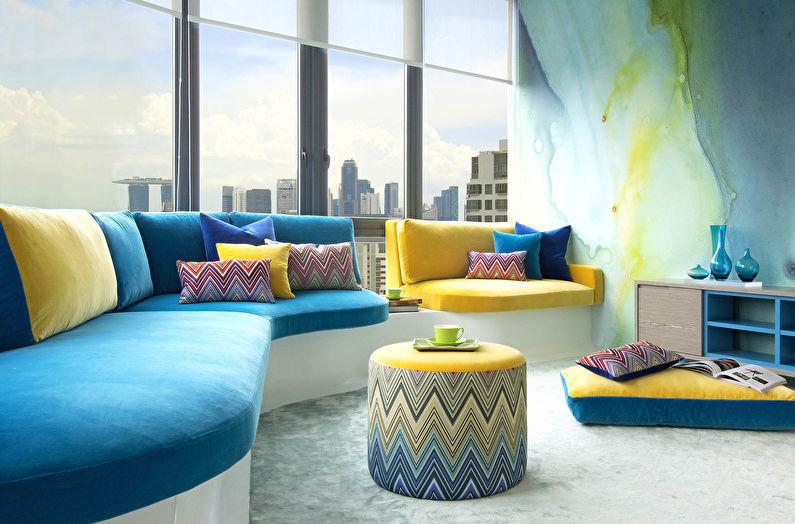 L'association des couleurs à l'intérieur du salon : 80 idées