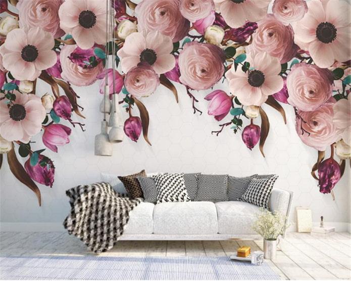 photo murale avec l'image de fleurs