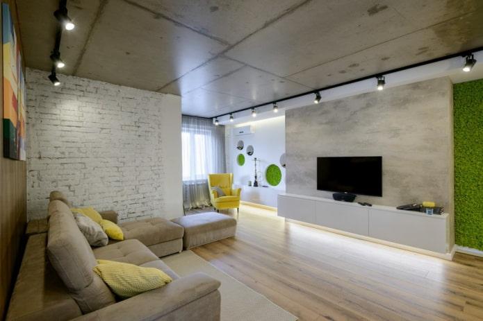 meuble TV mural à l'intérieur