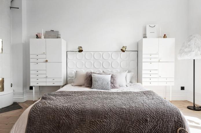 chambre aux murs blancs