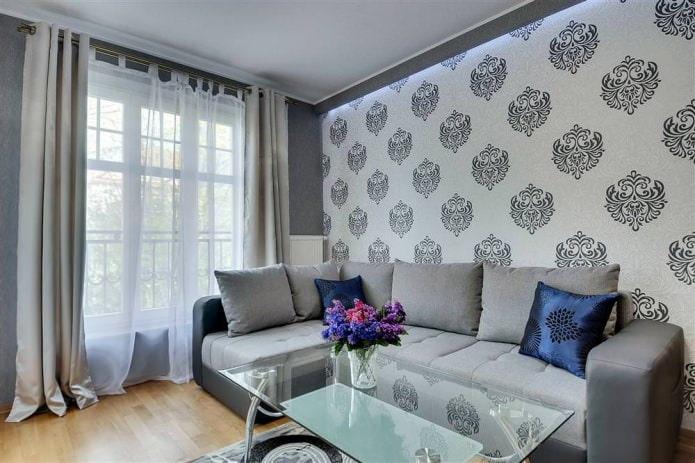 Papier peint design moderne pour le salon