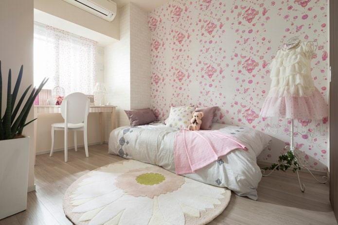 intérieur de chambre pour une fille 6-8 ans
