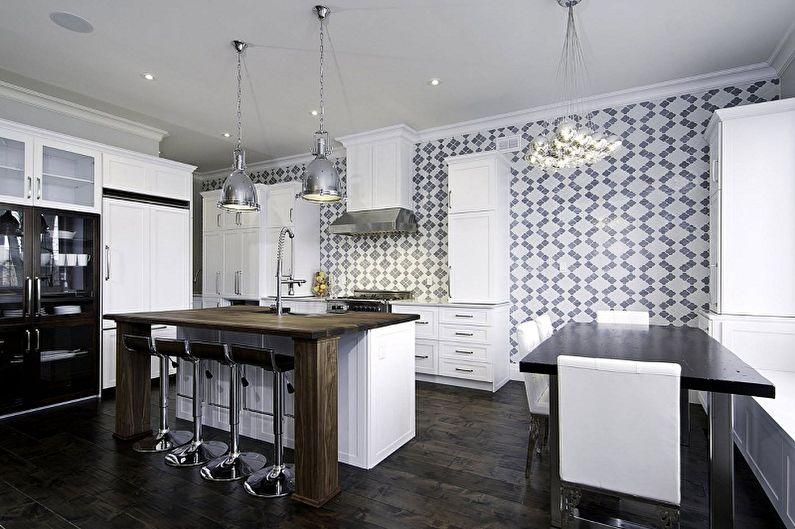 Papier peint lavable pour la cuisine (+65 photos)