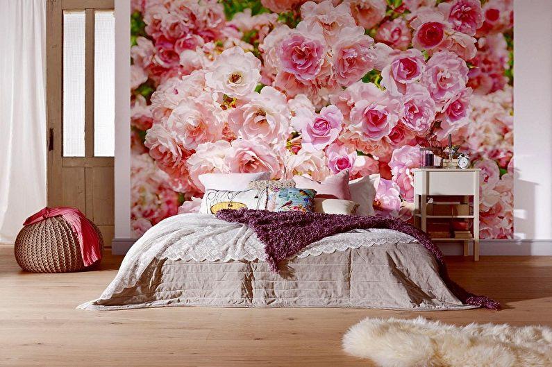 Papier peint photo dans la chambre : 60 photos et idées