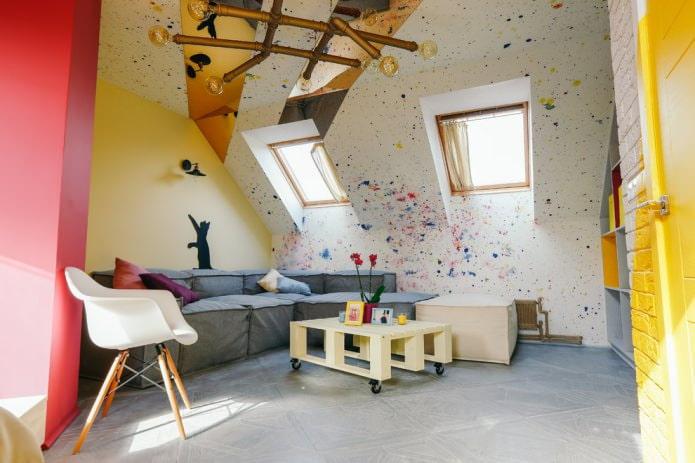 murs peints colorés