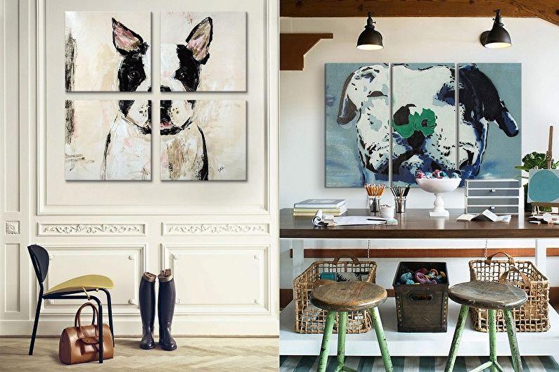Peintures modulaires à l'intérieur: 80 idées de photos