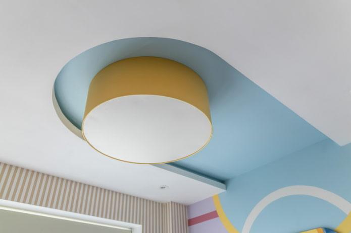 plafond flottant avec éclairage éteint