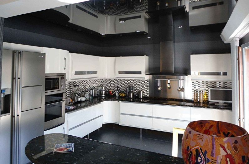 Plafond tendu dans la cuisine (65 photos)