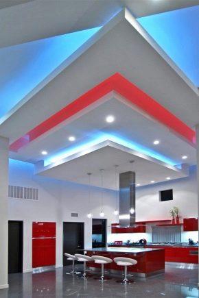 Plafonds en plaques de plâtre: types de structures et conception