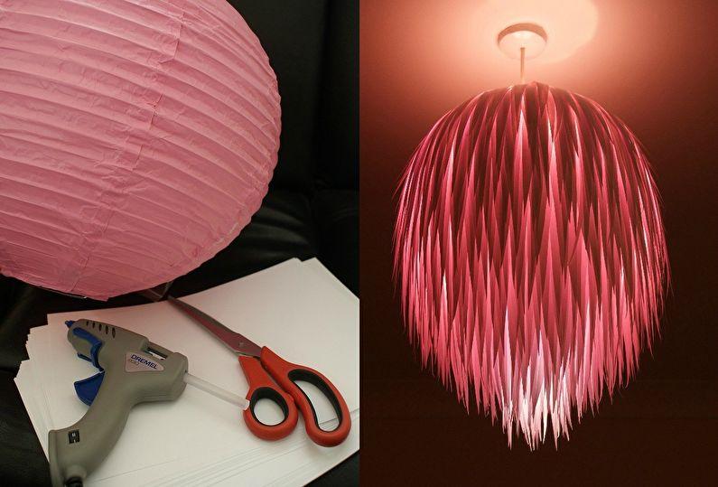 Plafonnier bricolage lustre: 60 idées de photos