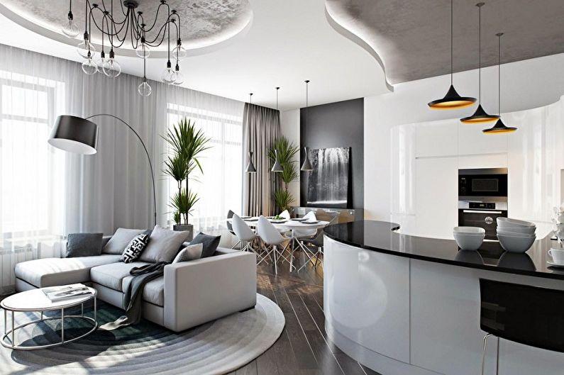 Plus de 60 idées pour planifier un appartement d'une pièce (photo)