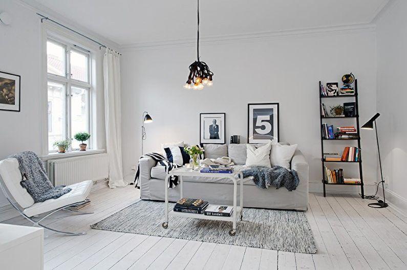 Plus de 70 idées de design de salon blanc (photos)