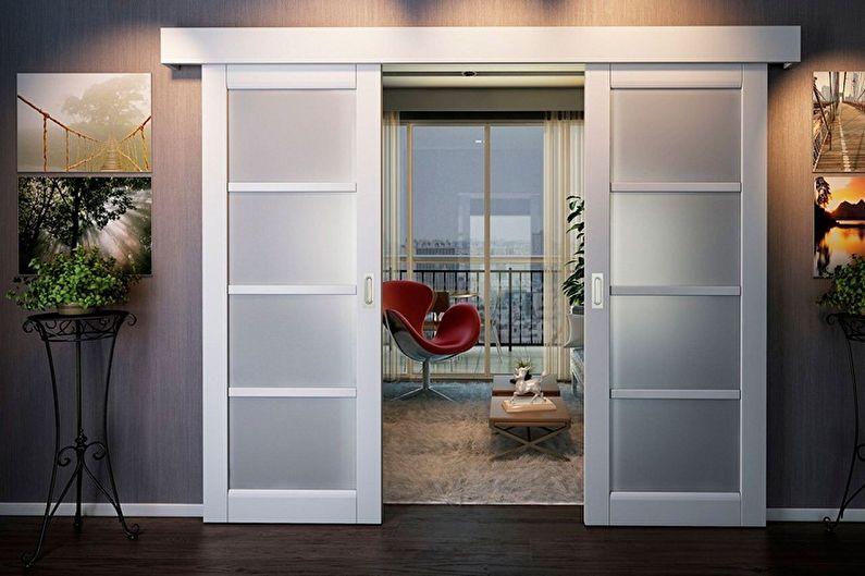 Portes blanches à l'intérieur (85+ photos)