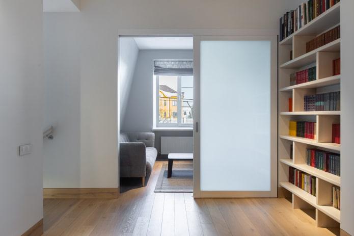 portes de compartiment standard à l'intérieur