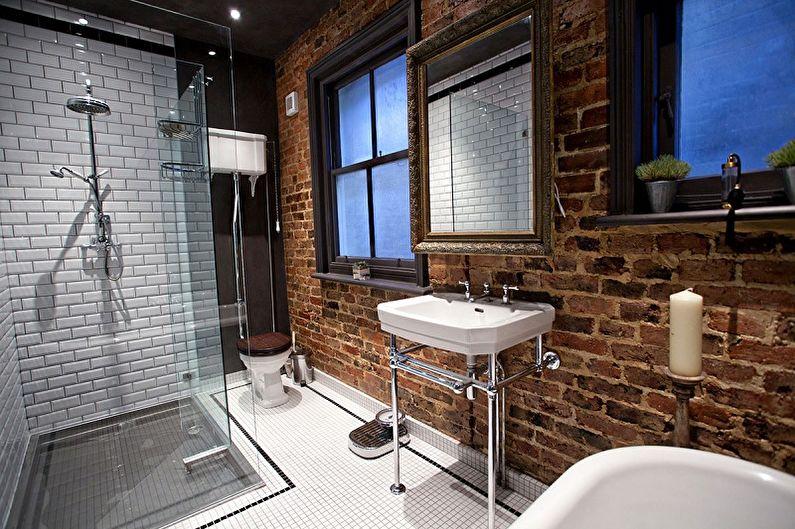 Salle de bain style loft (+65 photos)