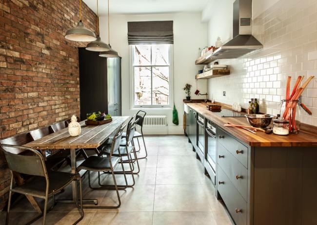 La cuisine droite est idéale pour les espaces étroits