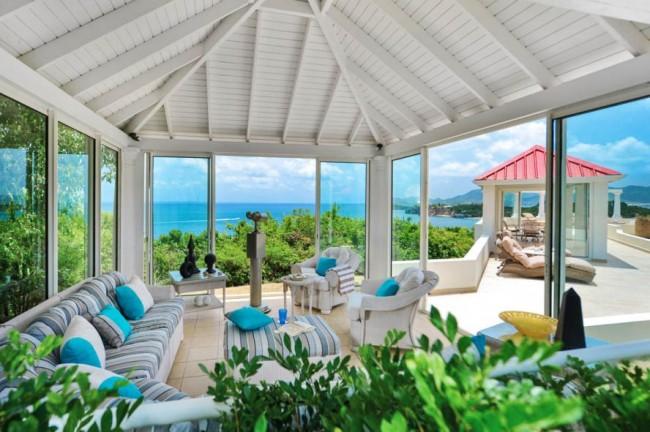 Magnifique terrasse avec vitrage panoramique