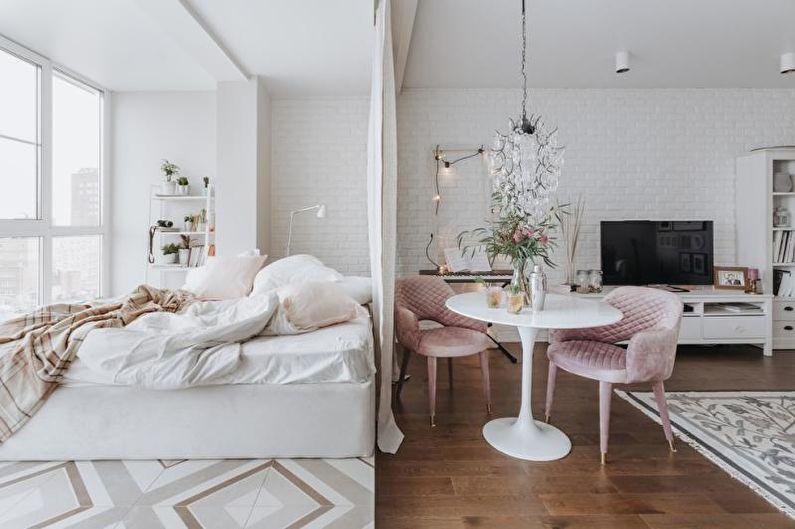 Zonage d'une pièce en chambre et salon : 65 idées