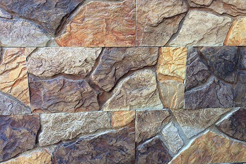 Types de pierre décorative - Formes