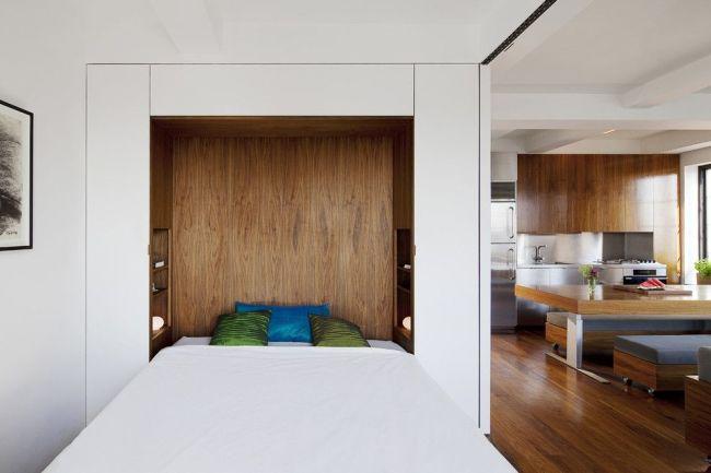Original et fonctionnel - lit pliant dans une niche