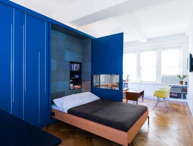 Solution fonctionnelle pour un petit appartement - lit pliant