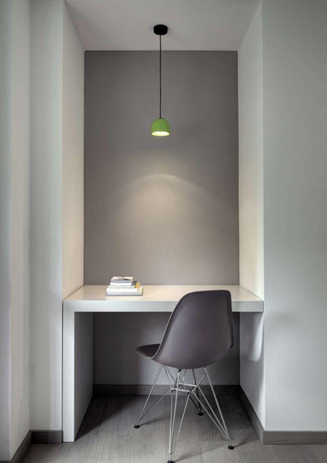 Dans une petite niche, vous pouvez organiser un lieu de travail compact