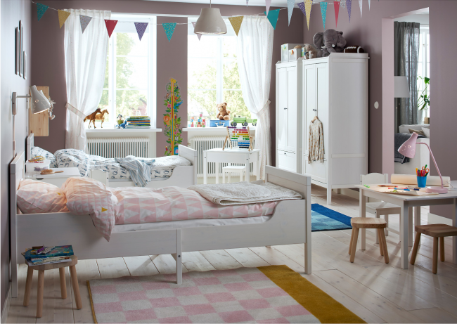 Chambre confortable pour deux enfants