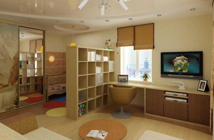 aménagement du salon combiné enfants-salon