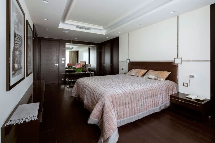couleur marron à l'intérieur de la chambre