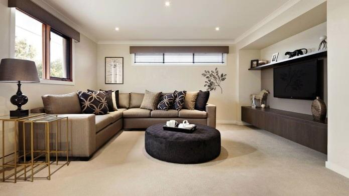 Grand canapé d'angle pour salon