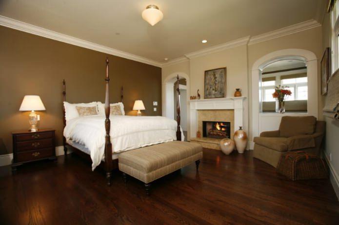 combinaison de couleurs marron et beige à l'intérieur de la chambre