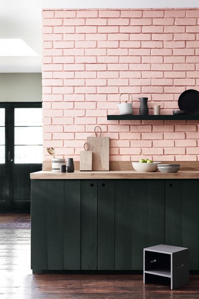 schéma de couleurs des briques à l'intérieur de la cuisine