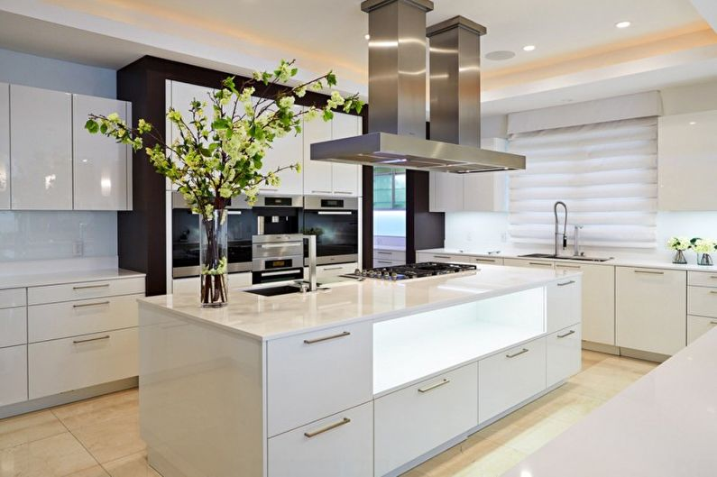 Cuisine beige high-tech - Design d'intérieur