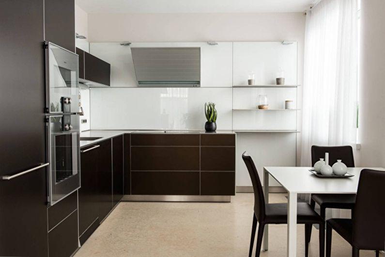 Cuisine marron high-tech - Design d'intérieur